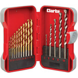 Clarke CHT765 17 Piece Combination Drill Bit Set