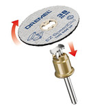Dremel 2615S541J EZ SpeedClic Grinding Wheels 2 Pack