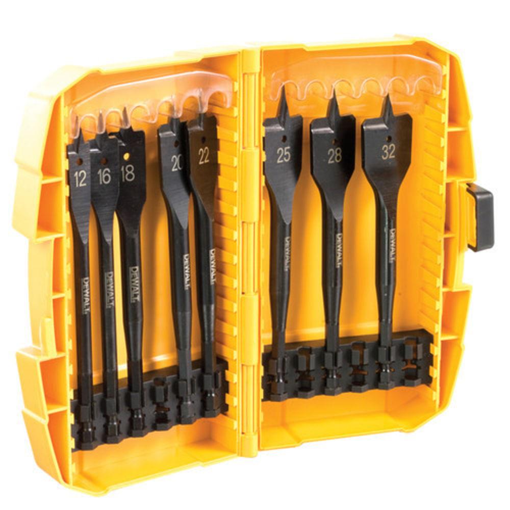 55fe51f7eb7 DeWalt DT7943B 8pc Extreme Flat Wood Drilling Bit Set - Machine ...
