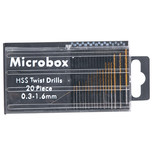 Microbox 20 Piece Micro HSS Twist Drill Set