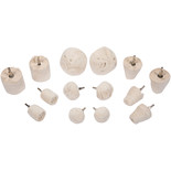 "14 Piece Set of 1/4"" Shank Assorted Buffing Wheels"