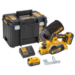DeWalt DCP580P2 18V XR 82mm Cordless Planer with 2x5.0Ah Batteries