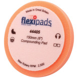 "Flexipads 44405 150 x 25mm (6"") Orange Velcro Firm Cut Foam Pad"