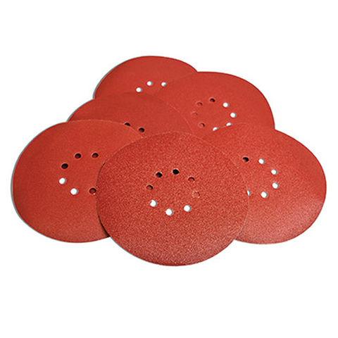 Image of Evolution Evolution 225mm 80 Grit Red Drywall Sanding Discs (6 Pack)
