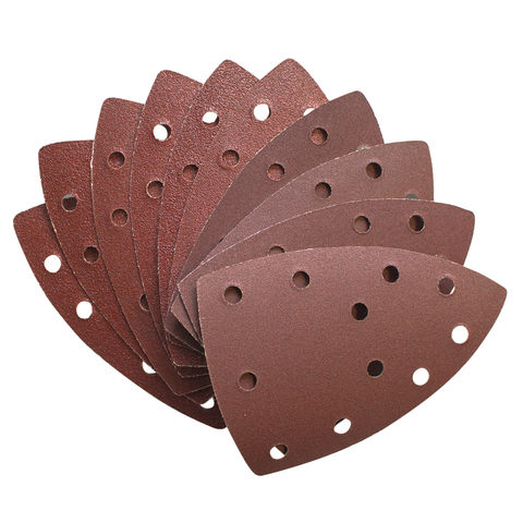 Image of National Abrasives Pack Of 10 Assorted Sanding Sheets for Einhell RT-OS13