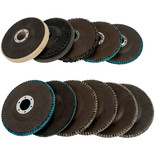 11 Piece 115mm Polishing and Flap Disc Set