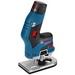 Bosch GKF 12V-8 Professional Palm Router with 2 x 3Ah Batteries, Charger and L-Boxx