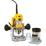 DeWalt D26204K 8mm Combination Plunge & Fixed Base Router (230V)