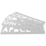 Trend TEMP/LUC/57 57mm Uppercase Letter Templates