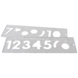 Trend TEMP/NUC/57 57mm Number Templates
