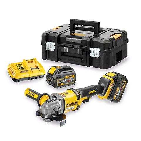 Image of DeWalt XR FlexVolt DeWalt DCG414T2 54V XR Li-Ion Angle Grinder with 2x6Ah Li-Ion Batteries