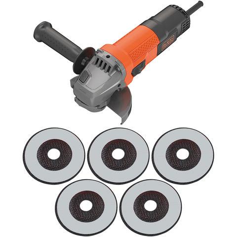 """Image of Black & Decker Black & Decker BEG110A5 115mm (4 ½"""") Angle Grinder"""