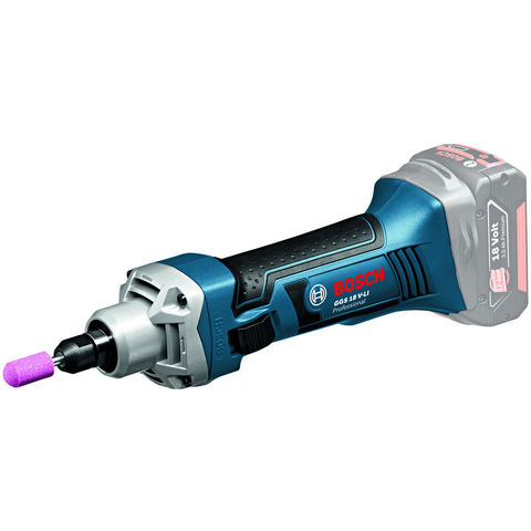 Image of Bosch Bosch GGS 18 V-LI Professional Cordless Straight Grinder (Bare Unit) & L-BOXX