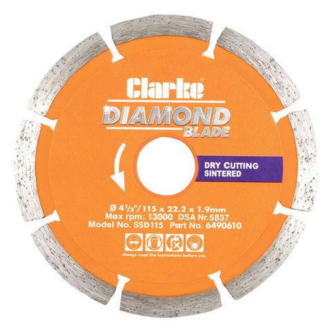 Image of Clarke Clarke SSD115 Diamond Blade 115mm