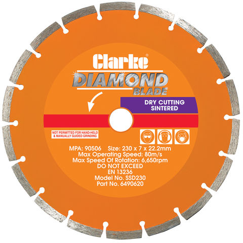 Image of Clarke SSD230 Diamond Blade 230mm