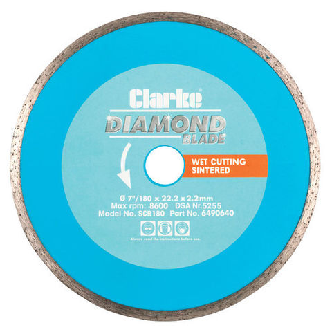 Image of Clarke Clarke SCR180 Diamond Blade 180mm
