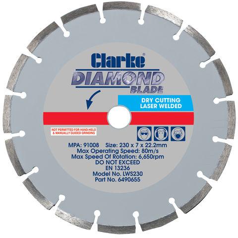 Image of Clarke Clarke LWS230 Diamond Blade 230mm