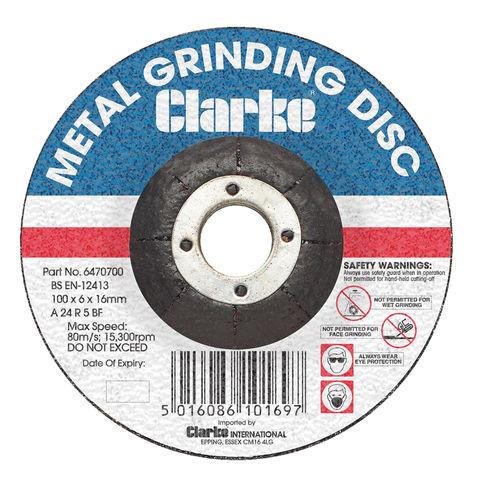 """Image of Clarke Clarke 4"""" Metal Grinding Disc"""