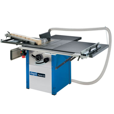 Image of 400Volt 3 Phase Scheppach Precisa 4.0 270mm Precision Tilt Arbor Circular Sawbench With Sliding Carriage & Extension (400V)