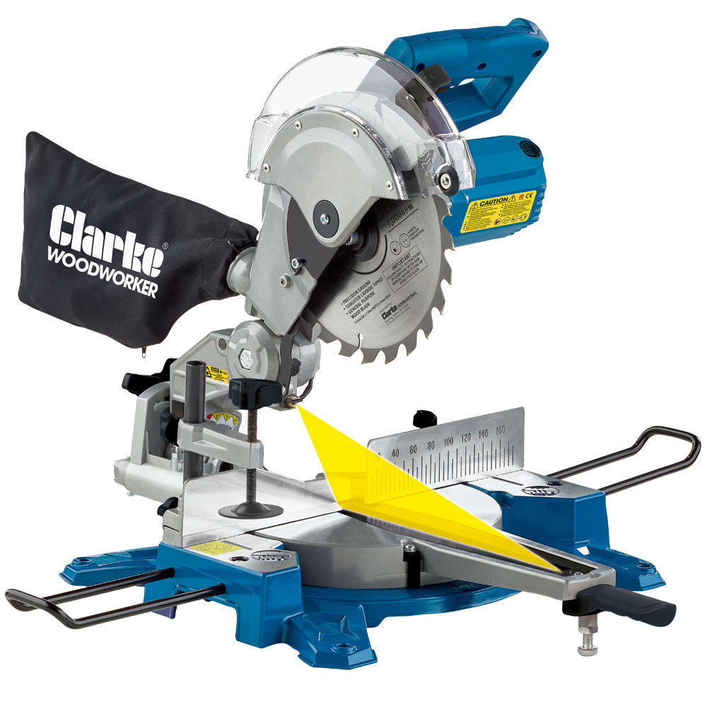 Clarke CMS210S 210mm Sliding Compound Mitre Saw - Machine