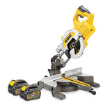 DeWalt DCS777T2 54V 216mm Cordless Mitre Saw with 2x6.0Ah Batteries