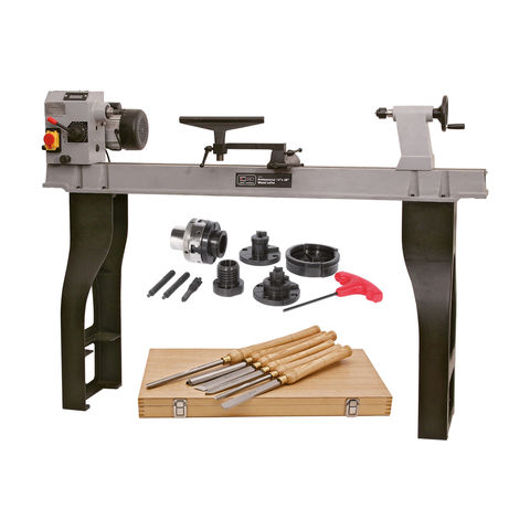 "Image of SIP SIP 01940MM 14"" x 43"" Wood Lathe, Chuck and Chisel Set"