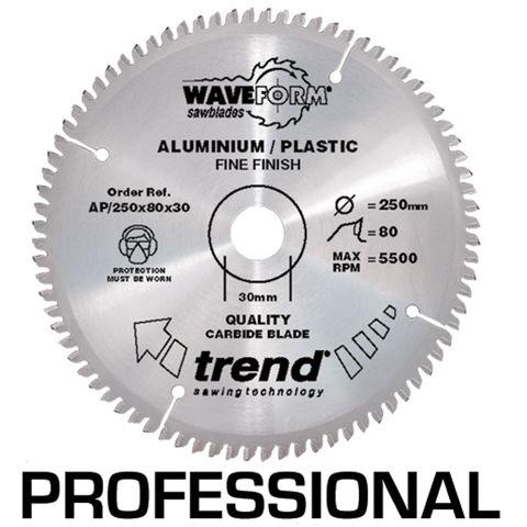 Image of Trend Trend AP/250x80x30 Pro Saw Blade Aluminium and Plastic 250 X 80 Teeth X 30