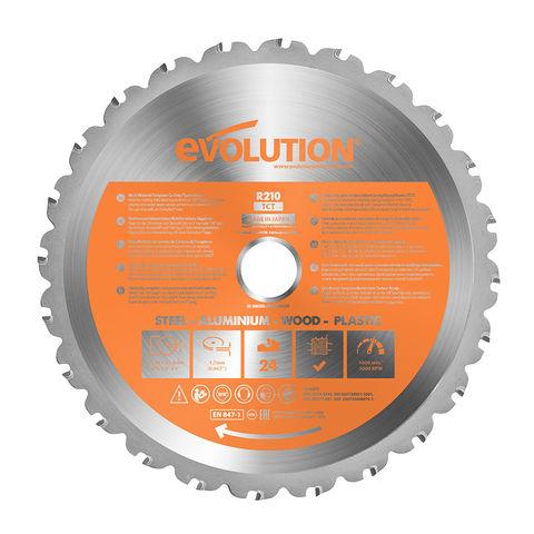 Image of Evolution Evolution 210mm Rage 3-S Blade, Cuts Steel, Aluminium & Wood