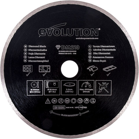 "Image of Evolution Evolution Rage Diamond Blade 210mm (8"")"