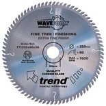 Trend FT/250X80X30 Pro Saw Blade Fine Trim 250mm X 80 Teeth X 30mm