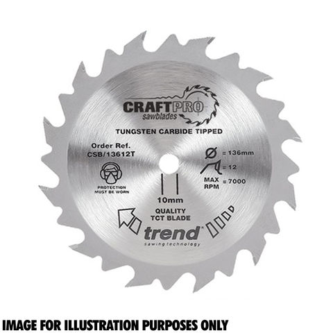 Image of Trend Trend CSB/13624TA Craft Saw Blade 136x20mm 24T