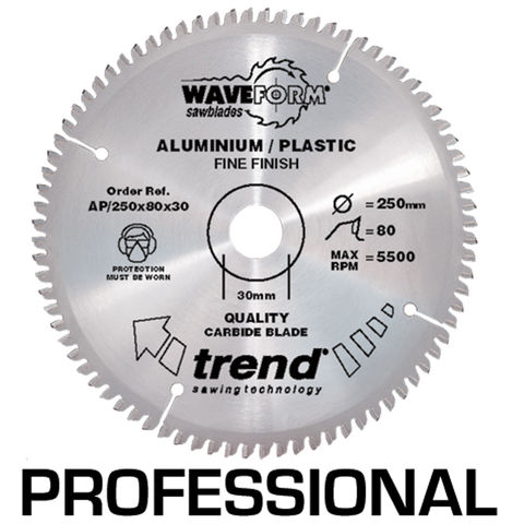Image of Trend Trend AP/160x48x20 Pro Saw Blade Alloy Or Plastic 160mm X 48 Teeth X 20mm