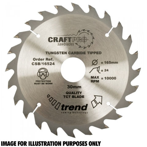 Image of Trend Trend CSB/15024 Craft Saw Blade 150x20mm 24T