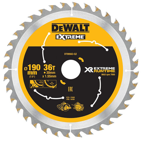 Image of DeWalt DeWalt XR FlexVolt DT99563-QZ Circular Saw Blade 190x30mm 36T