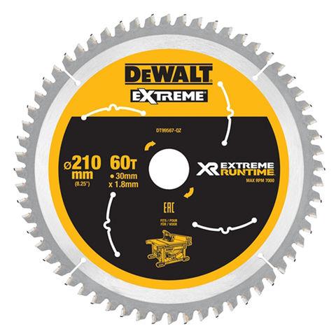 Image of DeWalt DeWalt XR FlexVolt DT99567-QZ Table Saw Blade 210x30mm 60T