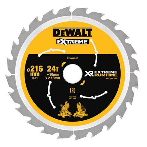 Image of DeWalt DeWalt XR FlexVolt DT99568-QZ Saw Blade 216x30mm 24T