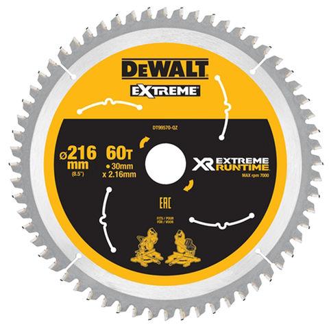 Image of DeWalt DeWalt XR FlexVolt DT99570-QZ Saw Blade 216x30mm 60T