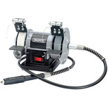 "Draper GD50W 3"" Mini Bench Grinder with Flexible Drive Shaft (230V)"
