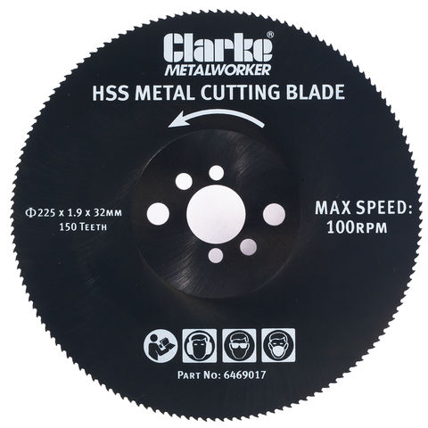 Image of Clarke Clarke 225mm Metal Cutting Circular Saw Blade