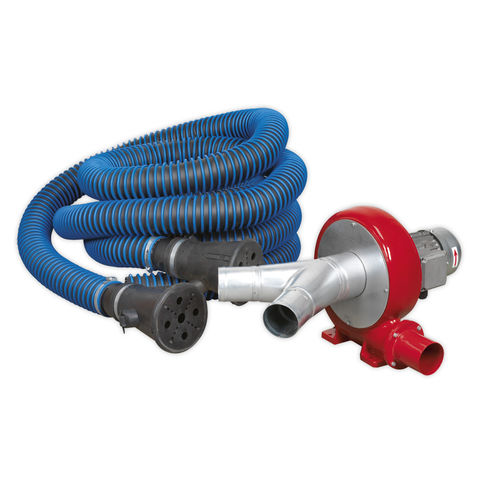 Image of Sealey Sealey EFS102 Exhaust Fume Extraction System 230V - 370W (Twin Duct)