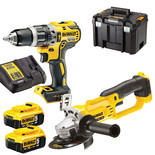 DeWalt DCK209P2T-GB 18V Brushless Combi Drill & Grinder Set