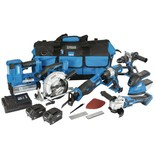 Draper *12/D20 D20 11 Piece 20V Jumbo Power Tool Kit with 1 x 3Ah 1 x 5Ah Batteries and Charger