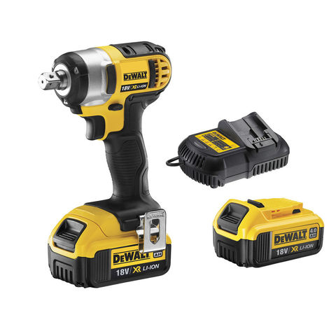 Image of DeWalt DeWalt DCF880M2 18V XR Compact Impact Wrench with 2 x 4.0Ah Li-Ion Batteries