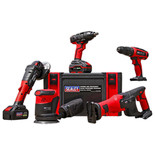 Sealey CP20V Series 5 x 20V Cordless Tool Combo with 2 x 3Ah Batteries & Charger