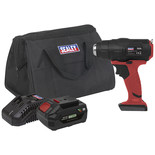 Sealey CP20VHGKIT Cordless Hot Air Gun Kit 20V (Battery, Charger & Bag)
