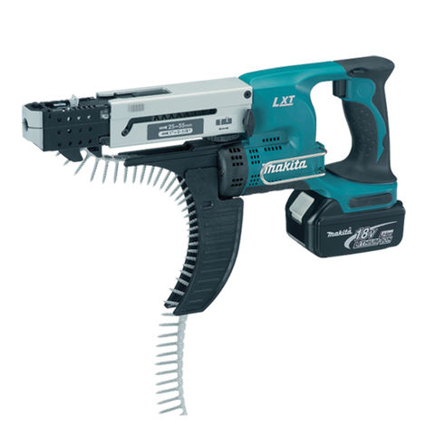 Image of Makita Makita DFR550RMJ 18V Auto Feed Screwdriver with 2x4.0Ah Batteries