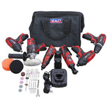Sealey CP1200COMBO2 CP1200 Series 6 x 12V Cordless Power Tool Combo Kit