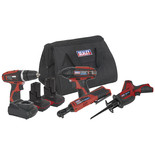 Sealey CP1200COMBO3 CP1200 Series 4 x 12V Cordless Power Tool Combo Kit