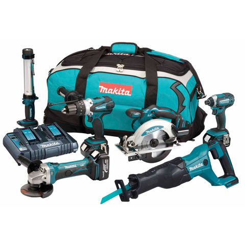 Image of Makita Makita DLX6044PT 18V Li-Ion LXT 6 Piece Cordless Kit