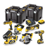 DeWalt DCK665P3T-GB 6 Piece 18V Li-Ion Power Tool Kit